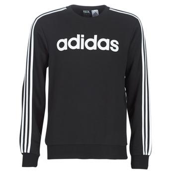 Kleidung Herren Sweatshirts adidas Performance E 3S CREW FL Schwarz