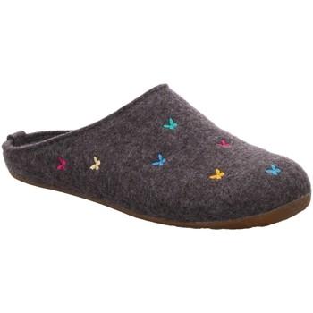 Schuhe Damen Hausschuhe Haflinger Everest Farfalline 484014-4 grau