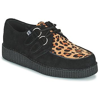 Schuhe Derby-Schuhe TUK LOW FLEX ROUND TOE CREEPER Schwarz / Leopard