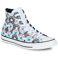 Schuhe Damen Sneaker High Converse Chuck Taylor All Star Logo Play Weiss / Schwarz