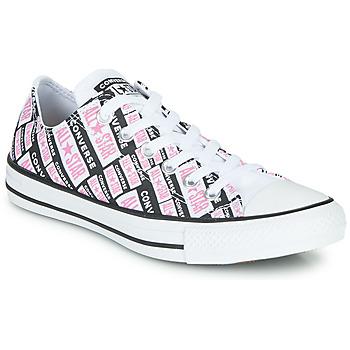 Schuhe Damen Sneaker High Converse Chuck Taylor All Star Logo Play Weiss / Rose / Schwarz