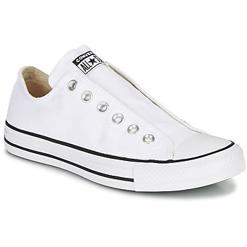 Schuhe Damen Slip on Converse CHUCK TAYLOR ALL STAR SLIP CORE BASICS Weiss