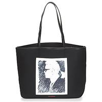 Taschen Shopper / Einkaufstasche Karl Lagerfeld KARL LEGEND CANVAS TOTE Schwarz