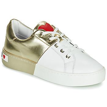 Schuhe Damen Sneaker Low Love Moschino BI-COLOR SHOES Weiss / Gold