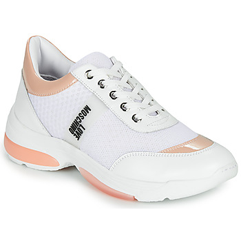 Schuhe Damen Sneaker Low Love Moschino RUN LOVE Weiss / Rose