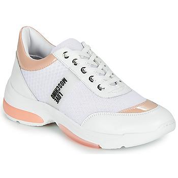 Schuhe Damen Sneaker Low Love Moschino RUNNINLOVE Weiss / Rose