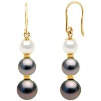 Uhren & Schmuck Damen Ohrringe Blue Pearls BPS K623 W Gold