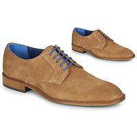 Schuhe Herren Derby-Schuhe Azzaro ZENOU Cognac