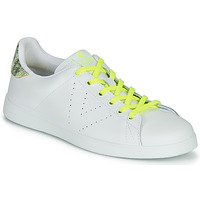 Schuhe Damen Sneaker Low Victoria TENIS PIEL FLUO Weiss / Gelb