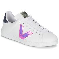 Schuhe Damen Sneaker Low Victoria TENIS VINILO Weiss / Blau