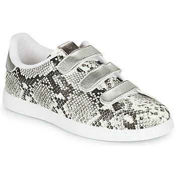 Schuhe Damen Sneaker Low Victoria TENIS SERPIENTE VELCRO Grau