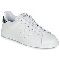 Schuhe Damen Sneaker Low Victoria TENIS PIEL SERPIENTE Weiss / Blau