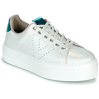 Schuhe Damen Sneaker Low Victoria BARCELONA METAL Weiss