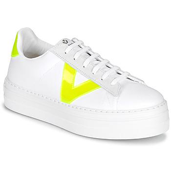 Schuhe Damen Sneaker Low Victoria BARCELONA LONA Weiss
