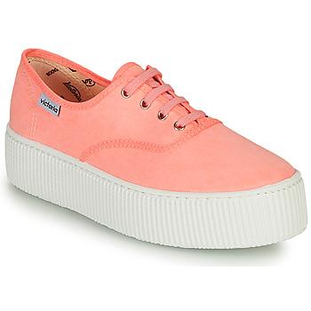 Schuhe Damen Sneaker Low Victoria DOBLE FLUO Korallenrot