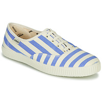 Schuhe Damen Sneaker Low Victoria NUEVO RAYAS Weiss / Blau