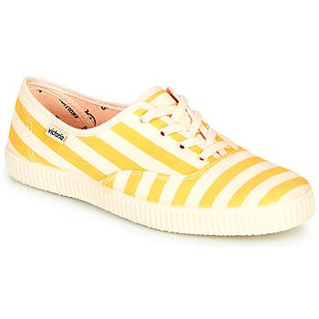 Schuhe Damen Sneaker Low Victoria NUEVO RAYAS Gelb / Weiss