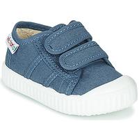 Schuhe Kinder Sneaker Low Victoria BASKET VELCRO Blau
