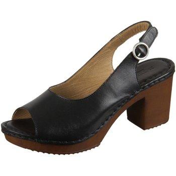 Schuhe Damen Sandalen / Sandaletten Ten Points Sandaletten Amelia 517016-101 black Leather 517016-101 schwarz