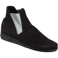 Schuhe Damen Boots Arche Stiefeletten DAYLYS DAYLYS noir argent satin Nubuck DAYLYS schwarz
