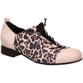 Schuhe Damen Derby-Schuhe Charme Schnuerschuhe 0913-19E weiß
