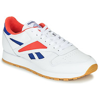 Schuhe Herren Sneaker Low Reebok Classic CL LEATHER MARK Grau / Weiss / Rot