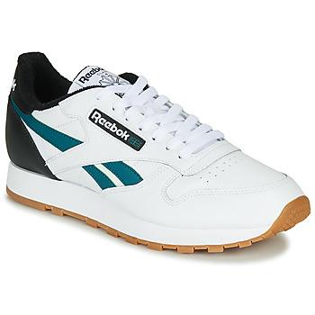 Schuhe Herren Sneaker Low Reebok Classic CL LEATHER MU Weiss / Schwarz
