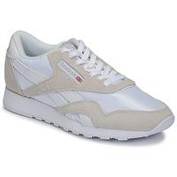 Schuhe Sneaker Low Reebok Classic CL NYLON Weiss / Beige