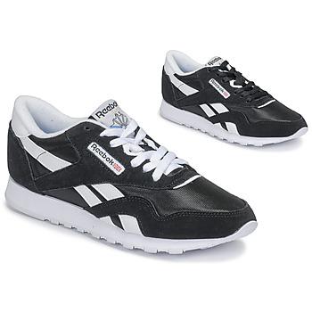Schuhe Damen Sneaker Low Reebok Classic CL NYLON Schwarz
