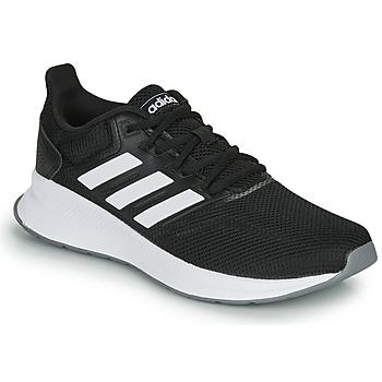 Schuhe Damen Laufschuhe adidas Performance RUNFALCON Schwarz / Weiss
