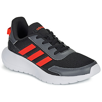 Schuhe Jungen Sneaker Low adidas Performance TENSAUR RUN K Schwarz / Rot