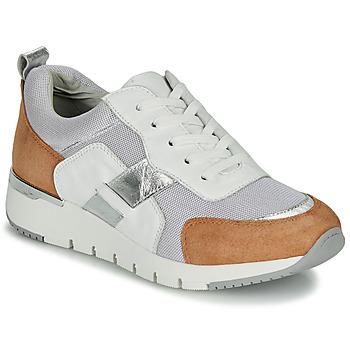 Schuhe Damen Sneaker Low Caprice BEBENE Weiss / Camel