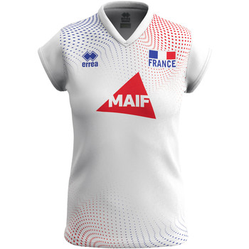 Kleidung Damen T-Shirts Errea Maillot femme extérieur Equipe de france 2020 blanc