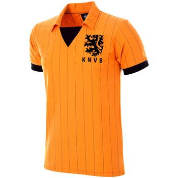 Kleidung Herren T-Shirts Copa Football Maillot rétro Pays-Bas 1983 orange