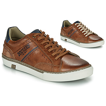 Schuhe Herren Sneaker Low Dockers by Gerli 46CM002-440 Cognac