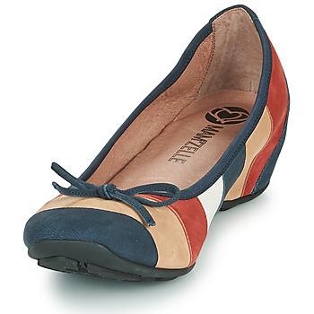 Mam'Zelle FLUTE Blau / Beige / Bordeaux - Kostenloser Versand |  - Schuhe Ballerinas Damen 8074