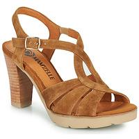 Schuhe Damen Sandalen / Sandaletten Mam'Zelle TIMBA Cognac