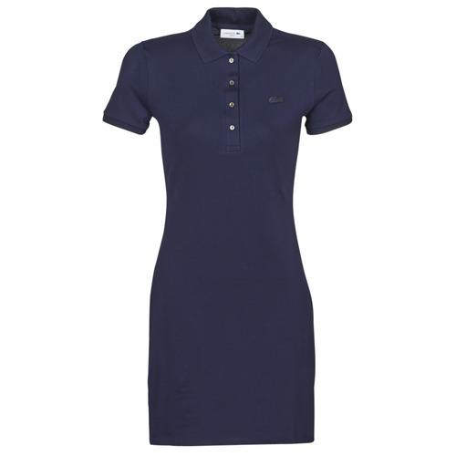 Kleidung Damen Kurze Kleider Lacoste SOLENE Marine