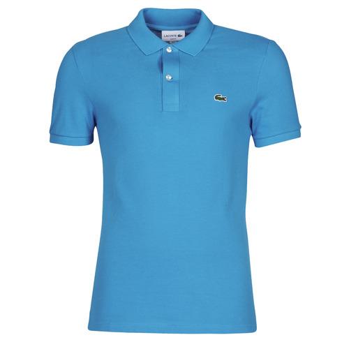 Kleidung Herren Polohemden Lacoste PH4012 SLIM Blau / Türkis