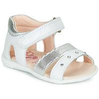 Schuhe Mädchen Sandalen / Sandaletten Pablosky DINNA Weiss / Silbern