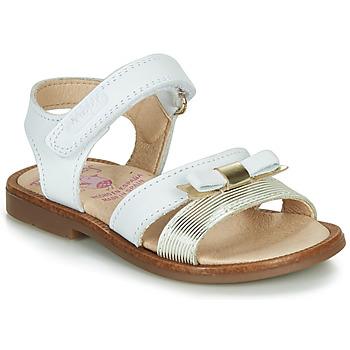Schuhe Mädchen Sandalen / Sandaletten Pablosky LOLLA Weiss / Gold