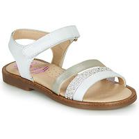 Schuhe Mädchen Sandalen / Sandaletten Pablosky PINNA Weiss / Perlmut