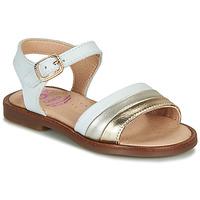 Schuhe Mädchen Sandalen / Sandaletten Pablosky  Weiss / Gold