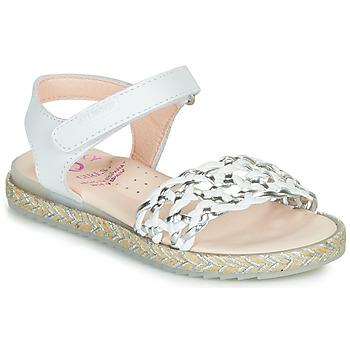 Schuhe Mädchen Sandalen / Sandaletten Pablosky MINNA Weiss / Silbern