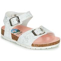 Schuhe Mädchen Sandalen / Sandaletten Pablosky SATTO Weiss / Silbern