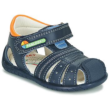 Schuhe Jungen Sandalen / Sandaletten Pablosky  Marine / Orange