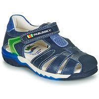 Schuhe Jungen Sandalen / Sandaletten Pablosky  Marine / Grün