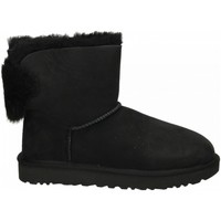 Schuhe Damen Low Boots UGG MINI PUFF CRYSTAL BOW black-nero