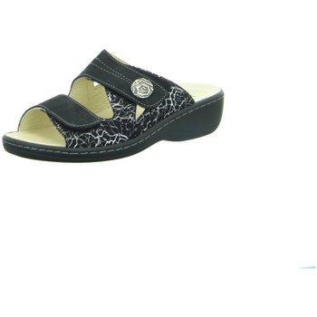 Schuhe Damen Pantoffel Longo Pantoletten 1006 407 silber 1006 407 silber schwarz