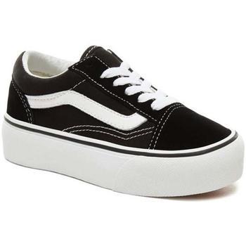 Schuhe Kinder Sneaker Low Vans Kids UY Old Skool Platform schwarz